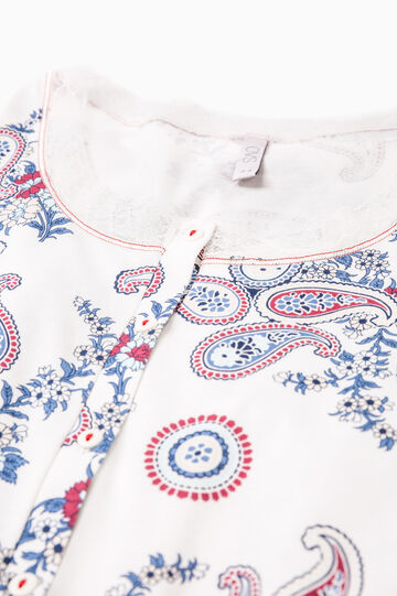 Nightdress with paisley print, Cream White, hi-res