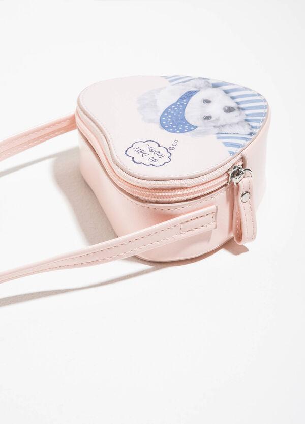 Heart-shaped shoulder bag with print | OVS