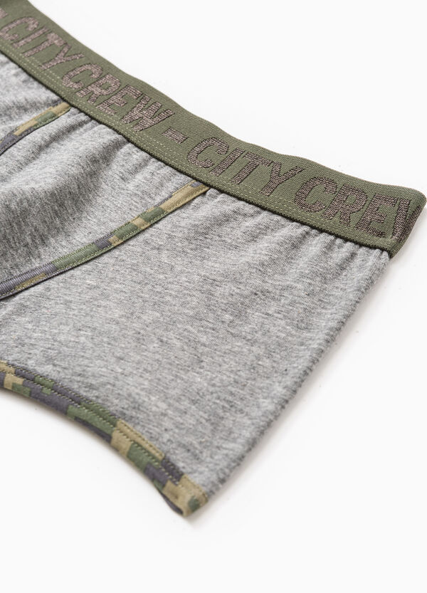 Camouflage stretch cotton boxer shorts | OVS