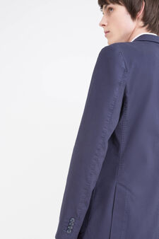 Stretch cotton jacket, Blue, hi-res