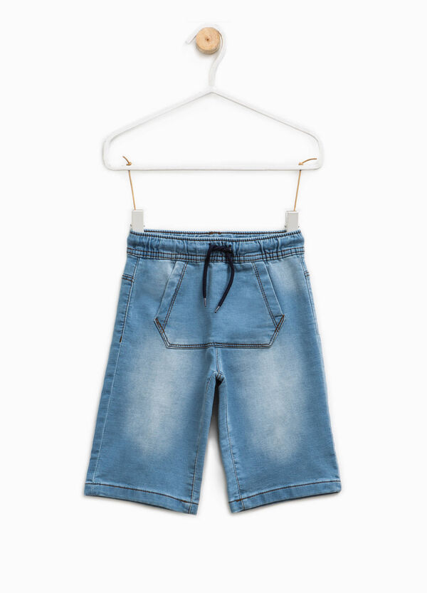 Denim Bermuda shorts with pouch pocket | OVS