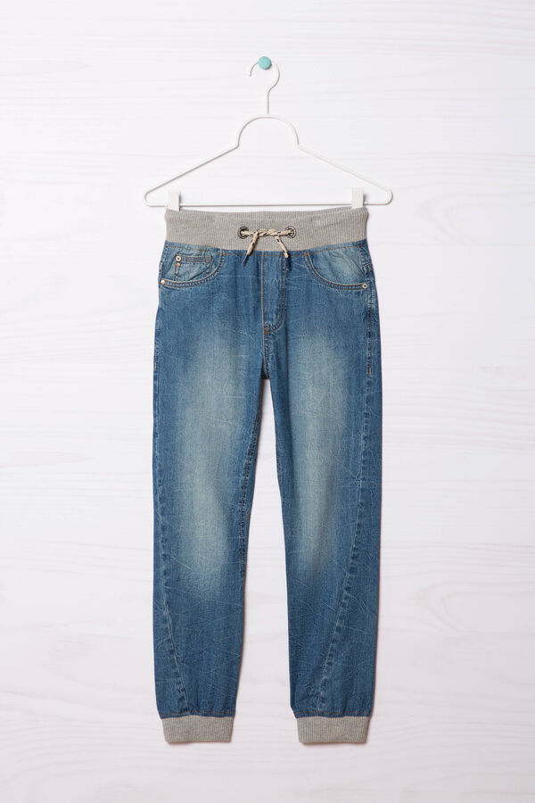 Jeans effetto used con coulisse | OVS