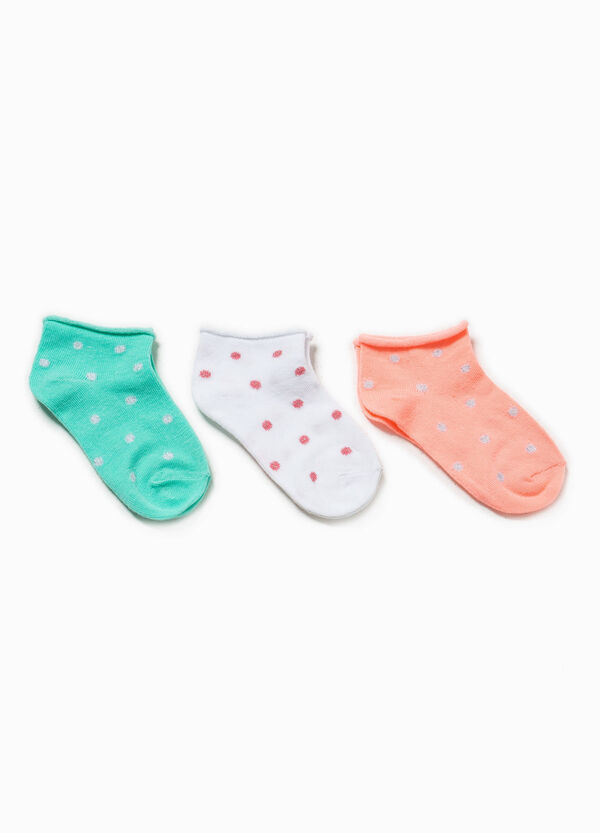 Three-pair pack socks with polka dots and glitter | OVS