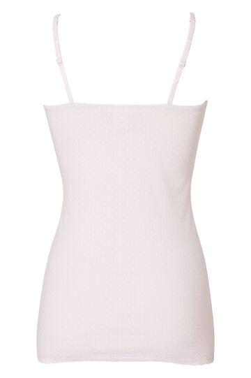 Stretch cotton polka dot print top., Light Pink, hi-res