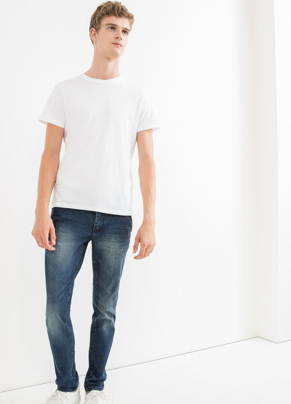 Jeans slim fit effetto used stretch | OVS