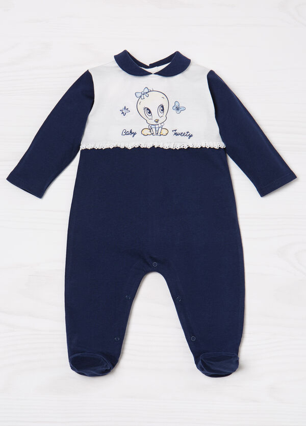 100% cotton romper suit with Tweetie Pie print | OVS