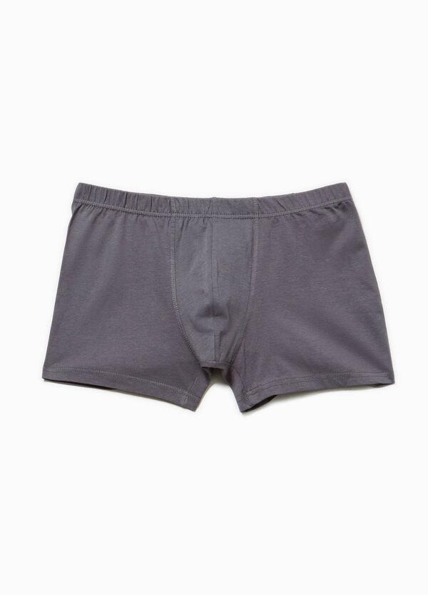 Solid colour 100% cotton boxer shorts | OVS
