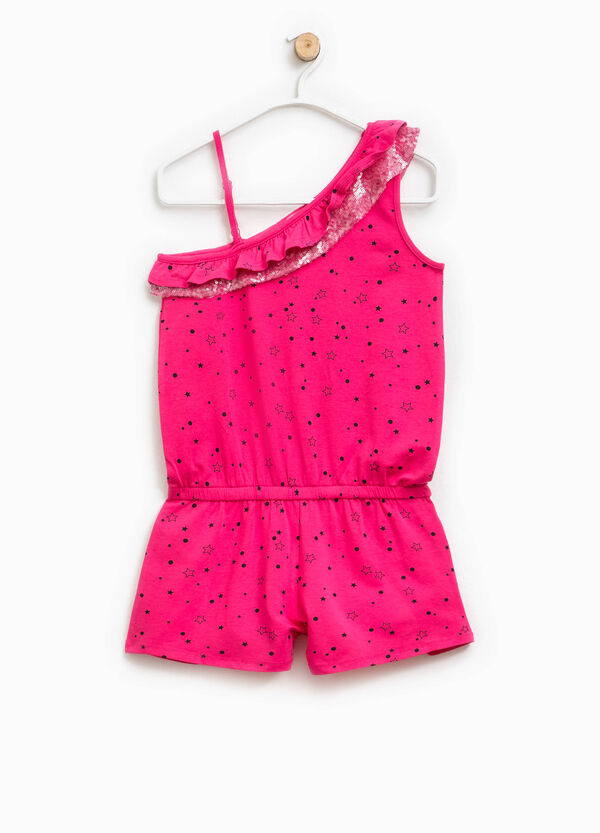 Star-patterned dress bodysuit with frills | OVS