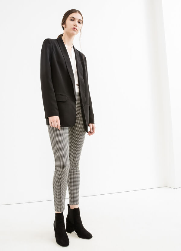 Pantaloni a vita alta stampa all-over | OVS