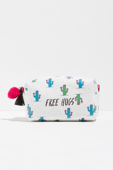 Beauty bag with cactus pattern