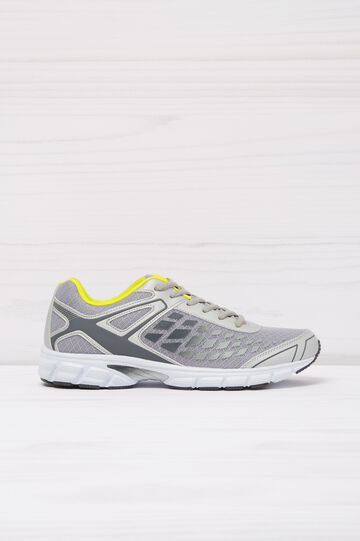 Sneakers with print in contrasting colour, Light Grey, hi-res