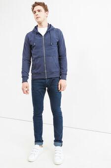 Cotton hoodie, Navy Blue, hi-res
