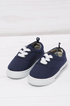 Sneakers with contrasting sole., Navy Blue, hi-res