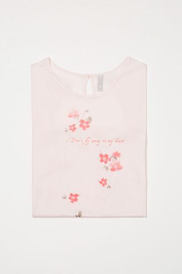 Printed pyjama top in 100% viscose