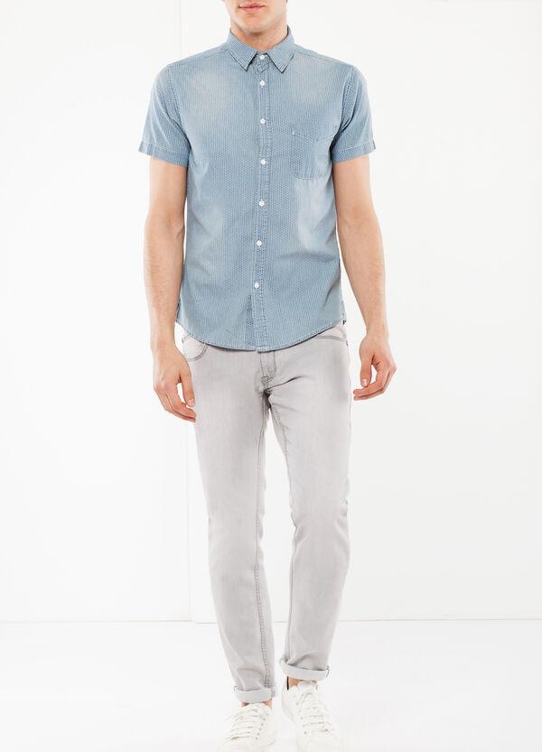 Denim shirt with a print   OVS