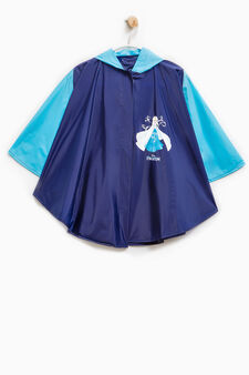 Rain cape with Frozen print, Navy Blue, hi-res