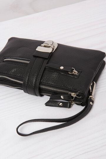 Leather look wallet, Black, hi-res