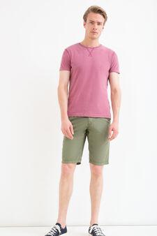 100% cotton Bermuda chinos with drawstring, Army Green, hi-res