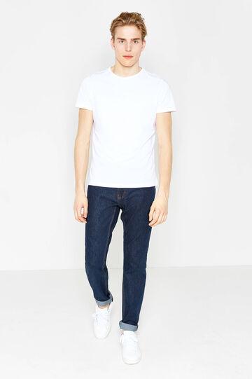 Jeans regular fit con risvolto, Lavaggio medio, hi-res