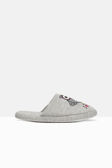 Printed slippers, Grey, hi-res