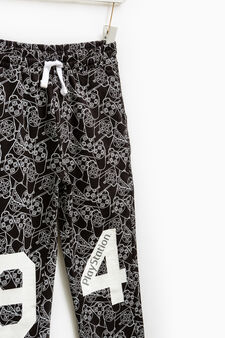 PlayStation patterned joggers, Black, hi-res