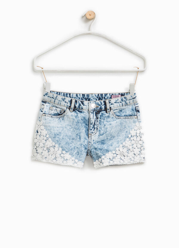 Denim shorts with lace | OVS