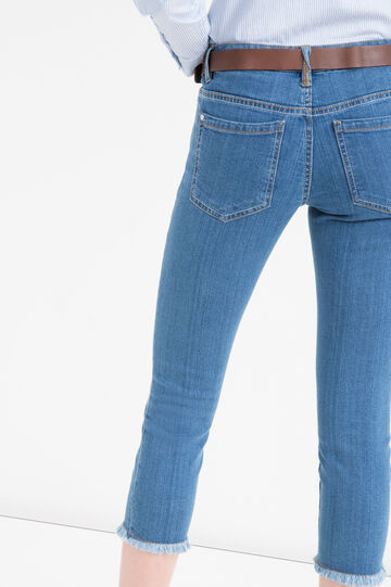 Faded effect, stretch skinny-fit jeans, Soft Blue, hi-res
