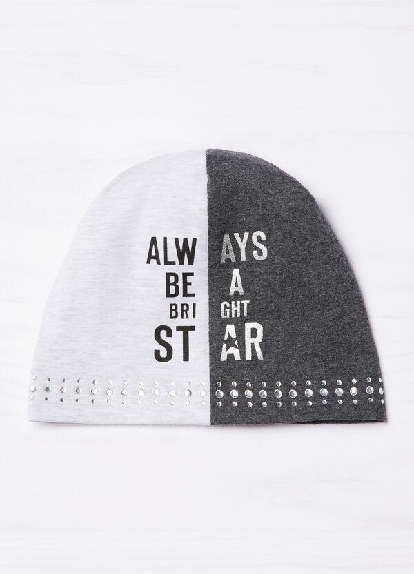 Cappello a cuffia bicolore con strass | OVS