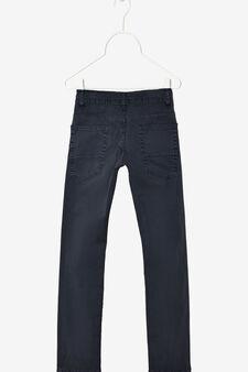 Pantaloni cinque tasche, Blu navy, hi-res