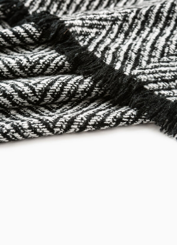 Scarf with geometric pattern | OVS