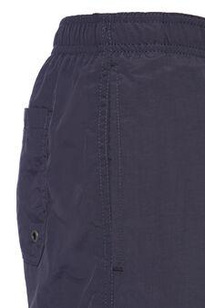 Solid colour swim boxer shorts, Grey, hi-res