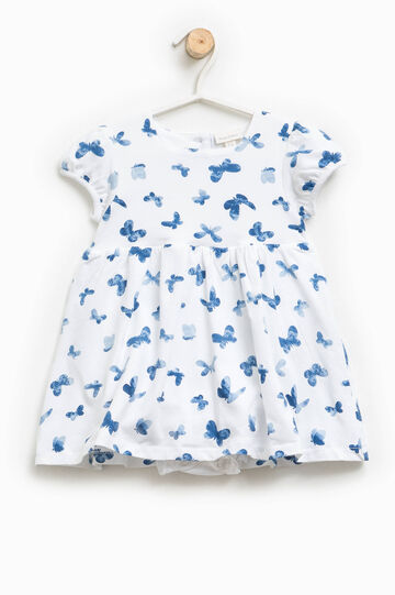 Dress romper suit with butterfly pattern