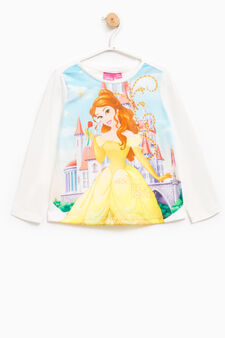 Beauty and the Beast print T-shirt, White, hi-res