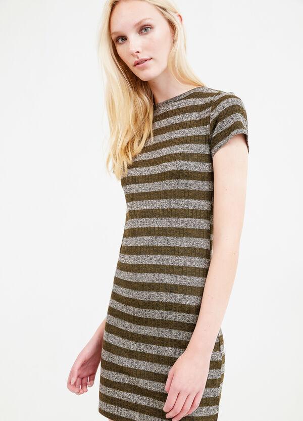 Striped dress in stretch viscose | OVS