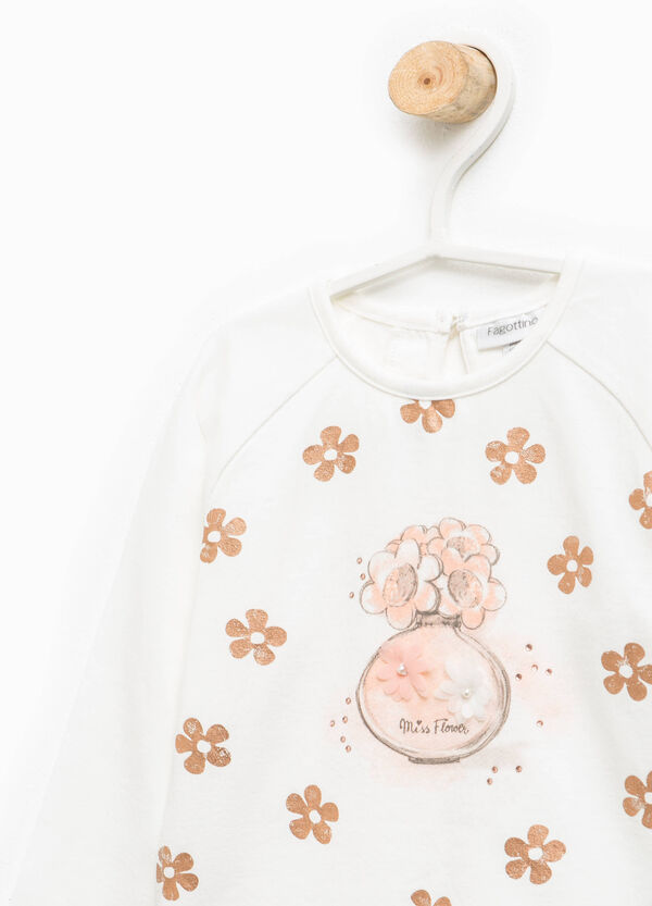 Floral patterned T-shirt with round neck | OVS