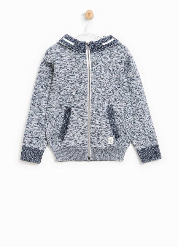 Cardigan with hood and zip | OVS