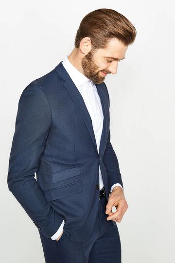 Custom-fit suit in stretch viscose