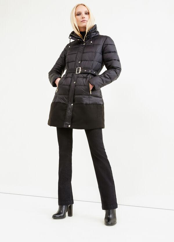 Stretch viscose jacket with belt | OVS