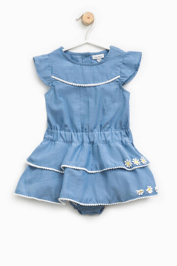 Demin dress romper suit