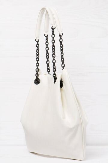 Solid colour shoulder bag, White, hi-res