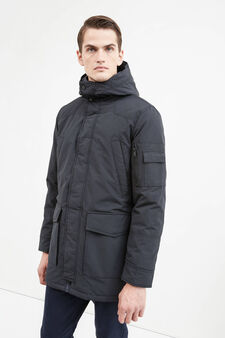 Cotton blend Rumford jacket, Black, hi-res