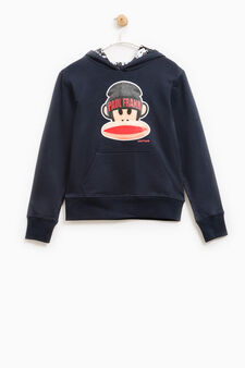 Hoodie with Paul Frank print, Blue, hi-res