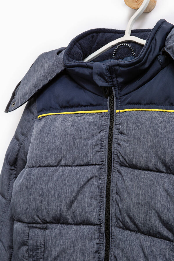 Solid colour bomber jacket with hood | OVS