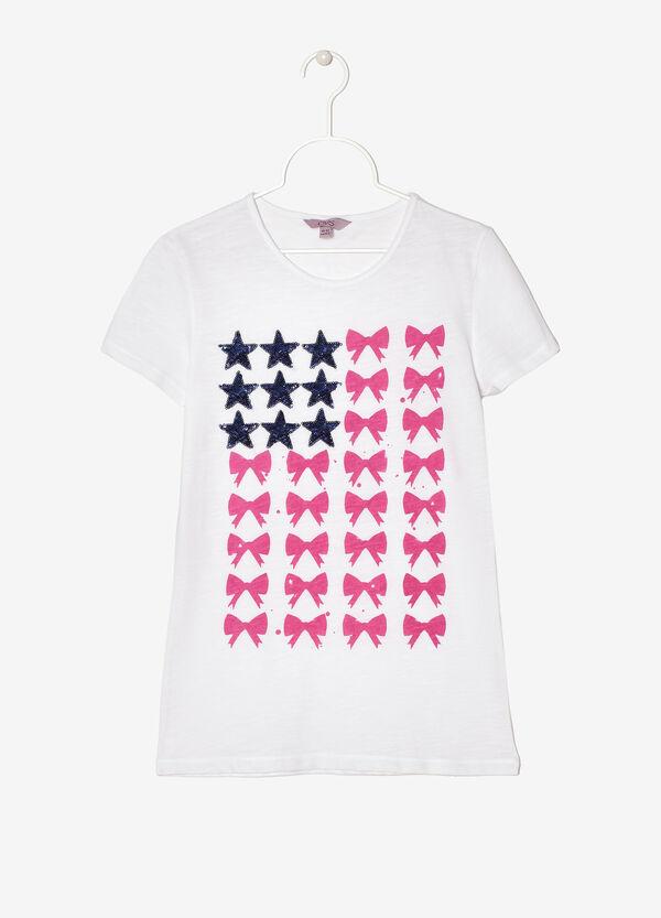 T-shirt con stampa e paillettes | OVS