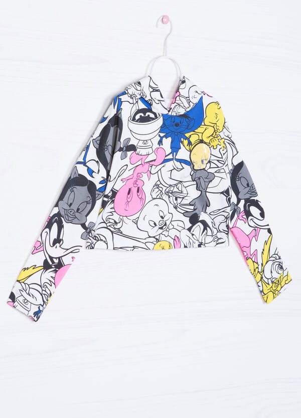 Looney Tunes cropped cotton hoodie | OVS
