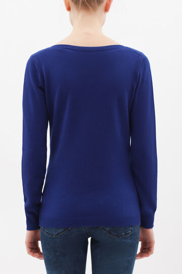 Cashmere and silk blend pullover, Cornflower Blue, hi-res
