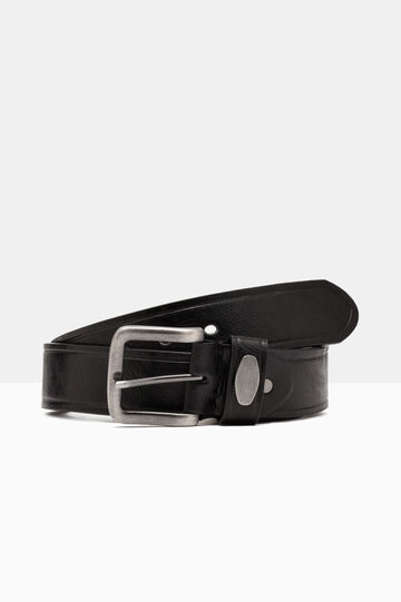 Skinny belt in faux leather., Black, hi-res