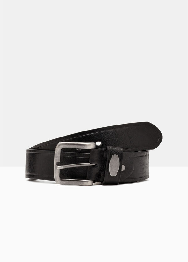 Skinny belt in faux leather. | OVS