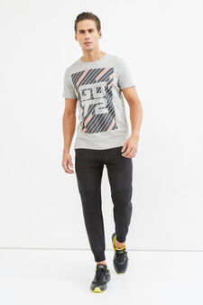 OVS Active Sport Training T-shirt, Grey Marl, hi-res