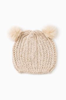 Cappello a cuffia con pelliccetta, Naturale, hi-res